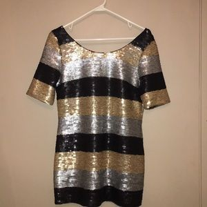 EmmeLee Anthropologie Sequin Tunic